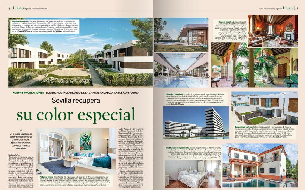 Un proyecto con el sello de Buró4, protagonista de un reportaje en EXPANSIÓN  sobre iniciativas residenciales exclusivas en Sevilla