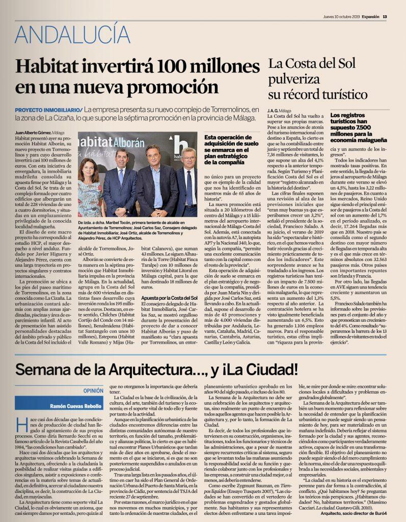 El diario EXPANSIÓN publica un artículo de Ramón Cuevas con motivo de la Semana de la Arquitectura