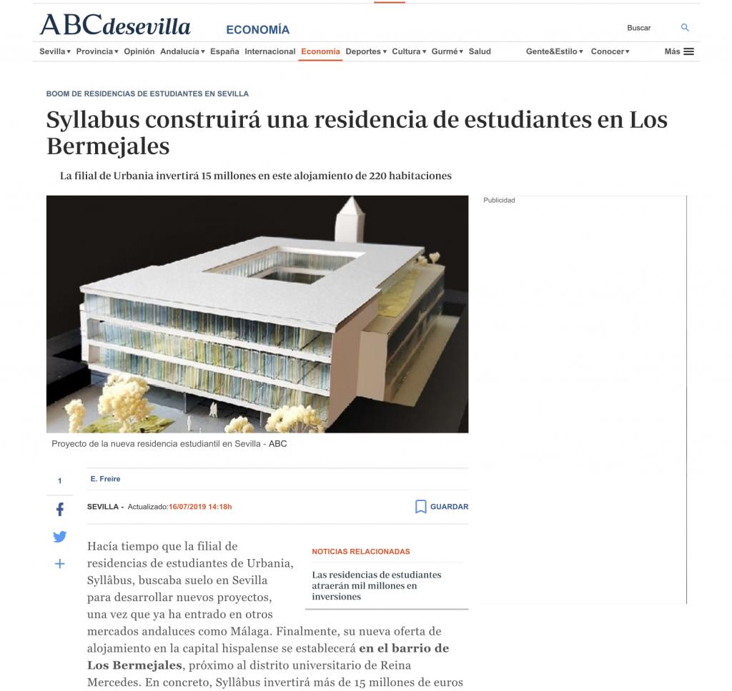Buró4 y Gabriel Verd diseñan la nueva residencia de estudiantes de Syllâbus by Urbania en Sevilla