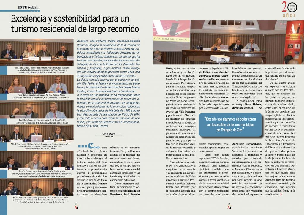 Ramón Cuevas, socio director de Buró4, participa en la XI Jornada de Turismo Residencial de la revista 'Andalucía Inmobiliaria'