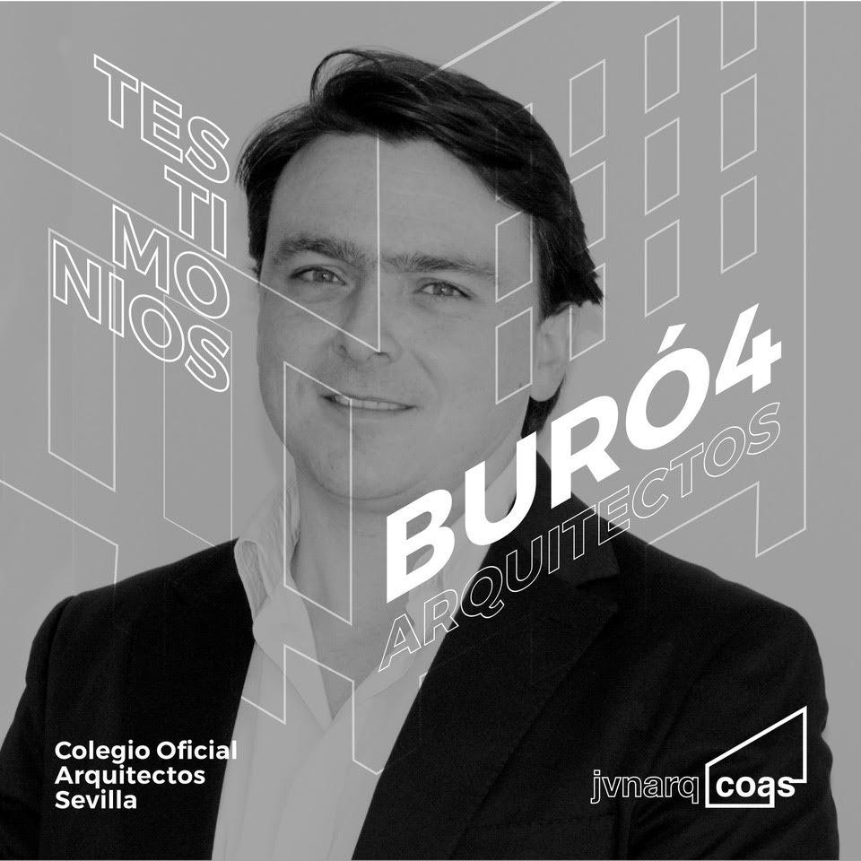 Ramón Cuevas, socio director de Buró4, ofrece su testimonio en el espacio destinado a los Jóvenes Arquitectos del COAS